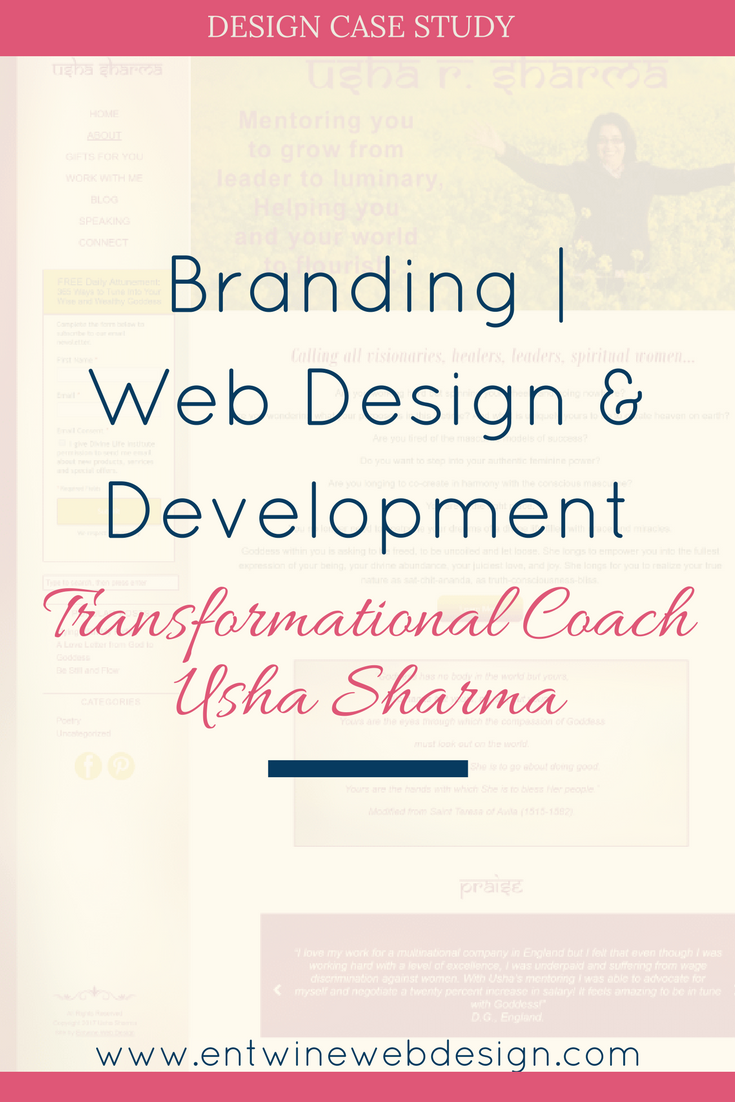 Branding, Web Design & Development for Transformational Coach Usha Sharma