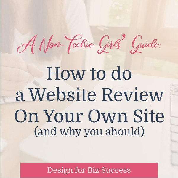 how to do a web review blog graphic