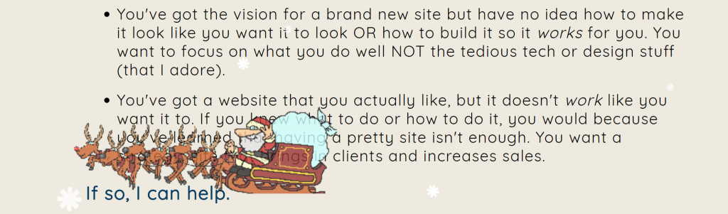 decorate your website with snow