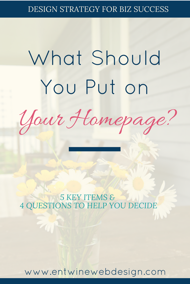 what should you include on your homepage blog graphic