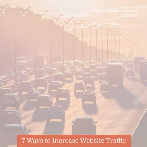 how do I get traffic to my website blog graphic