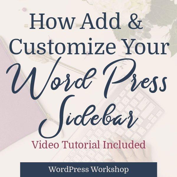 get wordpress sidebar blog graphic