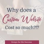 Why does a custom website cost so much?